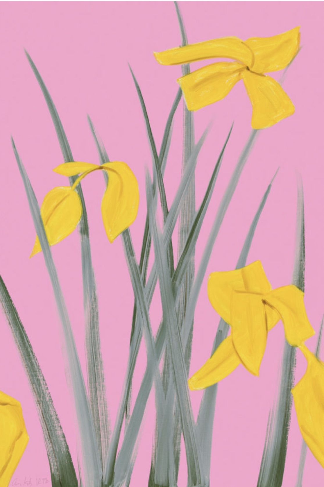 "Alex Katz, ""Yellow Flags 3"""