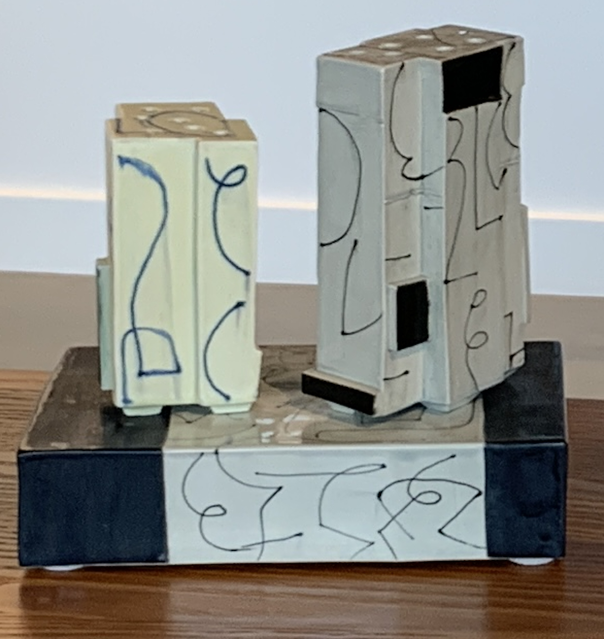 "Judith Salomon, ""2 Flower Bricks on Base"""