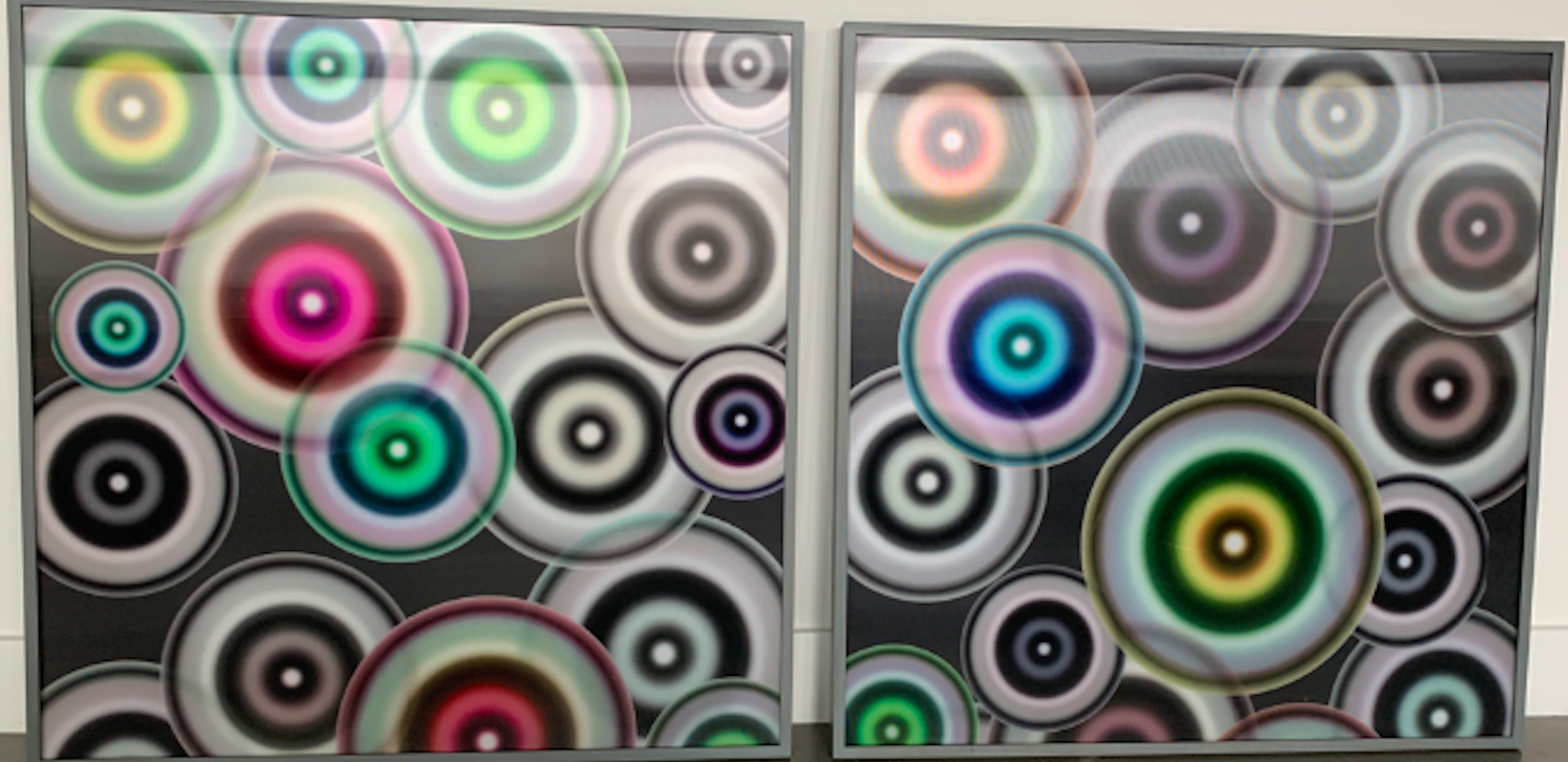 "Bruce Reinfeld, ""Circle Pattern"" Diptych"