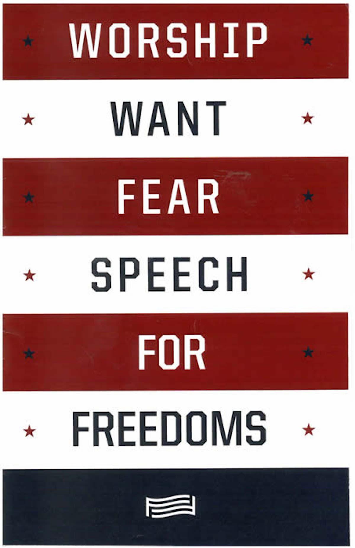 Worship Fear Want Speech
