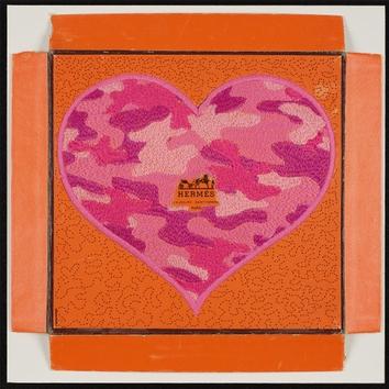 "Stephen Wilson, ""Hermes Camo Heart, Pink Variation"""