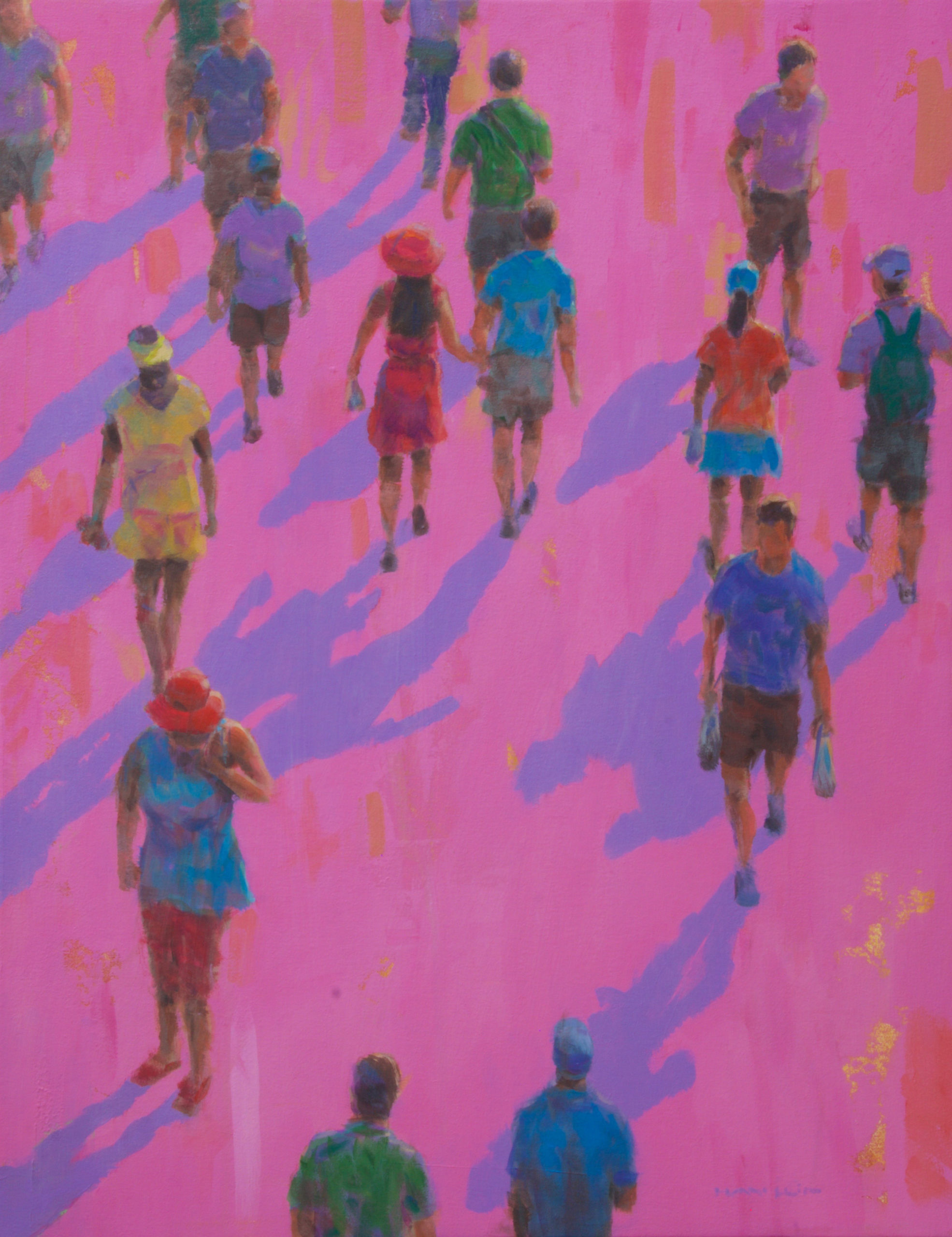 "Rod Hayslip, ""Walkers on Fuschia"""