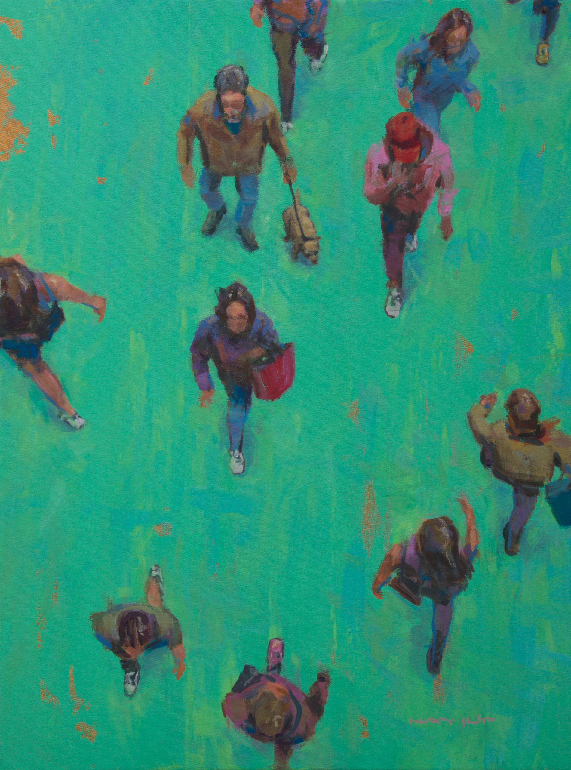 "Rod Hayslip, ""Walkers on Green"""