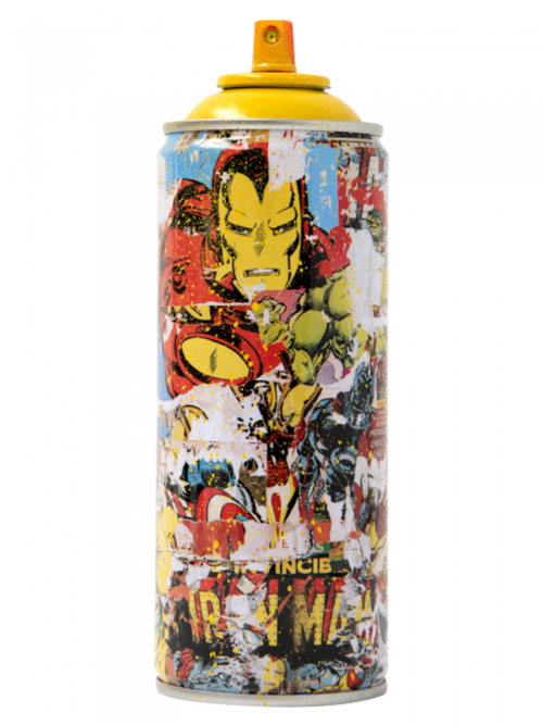 "Mr. Brainwash, ""Iron Man"" Metal Spray Can"