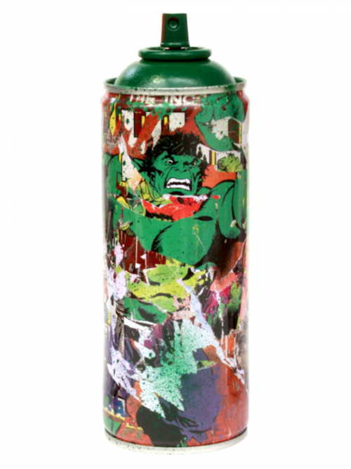 "Mr. Brainwash, ""Hulk"" Metal Spray Can"