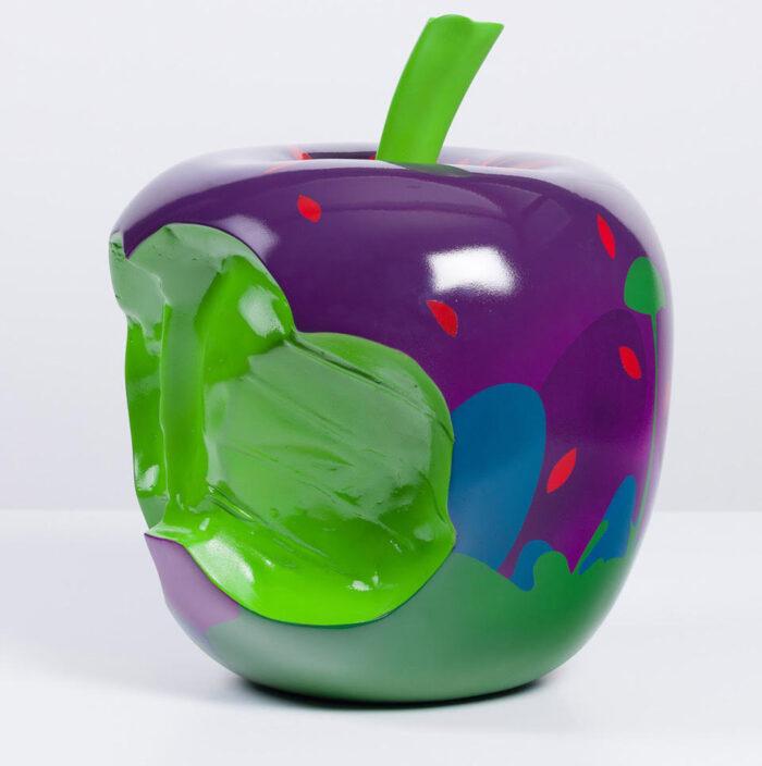"Neill Wright, ""Untitled Apple (purple/green)"""